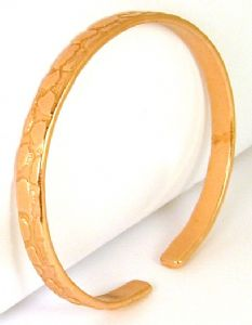 B40: Copper Patterned Bangle